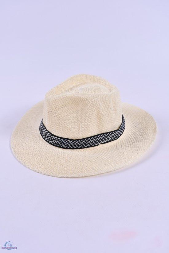 Шляпа для мужчины (цв.молочный) арт.612858