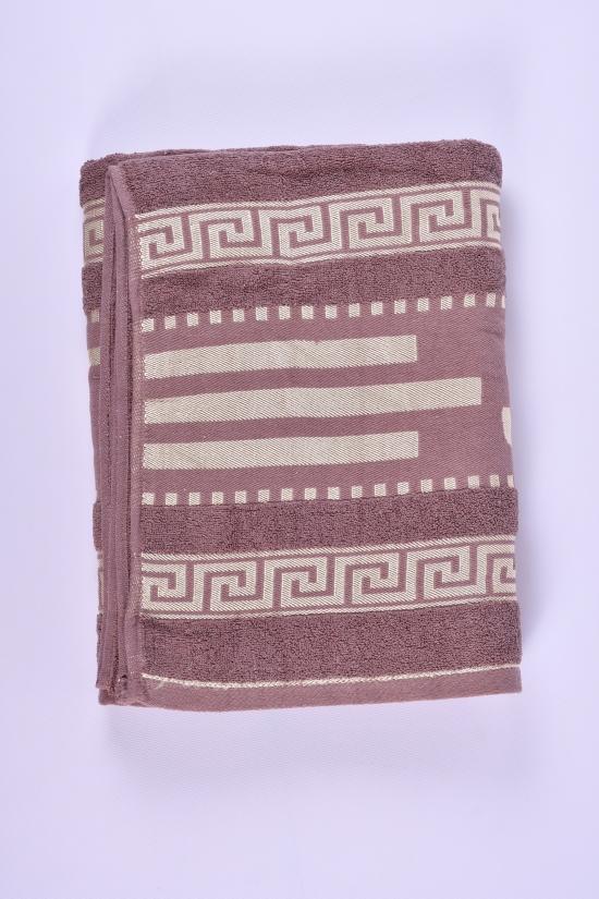 Полотенце сауна махровое (цв.коричневый) размер 155/95 см (вес 740 гр.) арт.9357