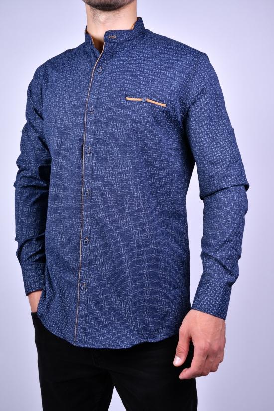 Рубашка мужская стрейчевая Slim Fit (цв.т.синий) G-PORT Размеры в наличии : 46,48,50,52,54 арт.190