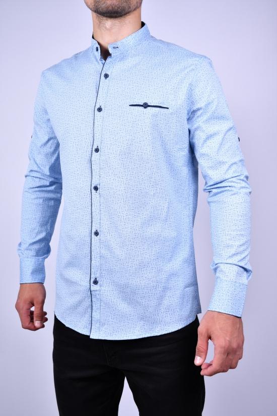 Рубашка мужская стрейчевая Slim Fit (цв.голубой) G-PORT Размеры в наличии : 46,48,50,52,54 арт.190