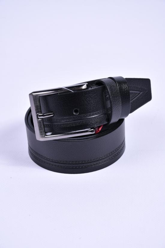 Ремень мужской кожаный YSK (цв.чёрный) ширина 40мм. арт.430621