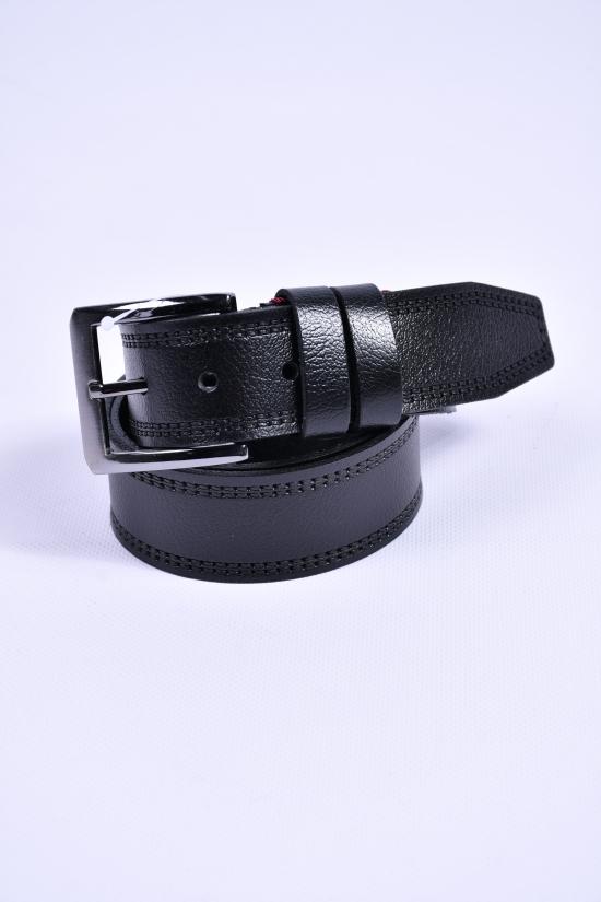Ремень мужской кожаный YSK (цв.чёрный) ширина 40мм. арт.430001
