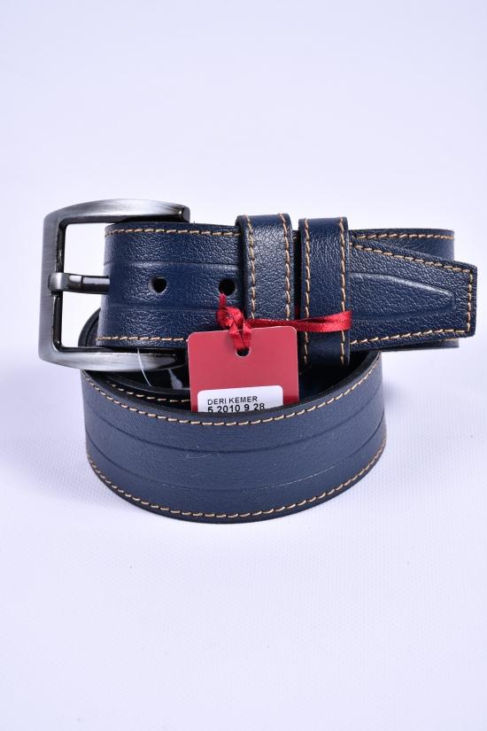 Ремень мужской кожаный YSK (цв.т.синий) ширина 45мм. арт.52010928
