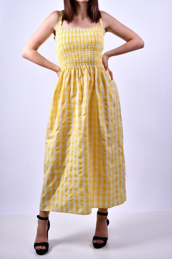 Сарафан женский (цв.желтый) QUIZZ Размеры в наличии : 40, 42, 44, 46 арт.КЛЕТКА