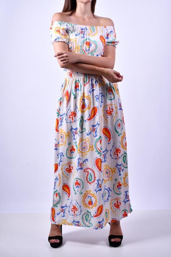 Платье женское (цв.белый) QUEST STYLE Размеры в наличии : 40, 42, 44, 46 арт.615070