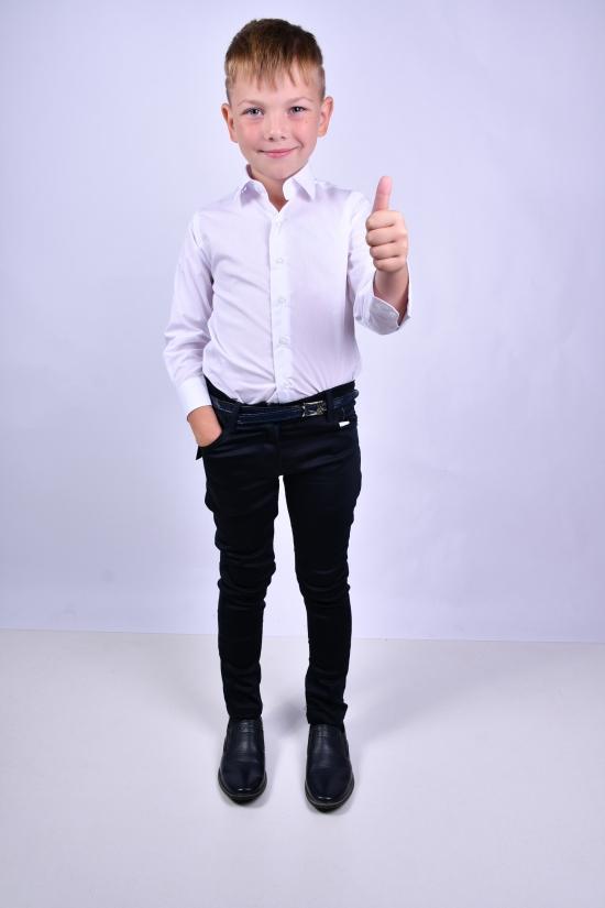 Рубашка для мальчика (цв.белый) CAN BULGAN Рост в наличии : 104, 110, 116, 122, 128 арт.9898-1
