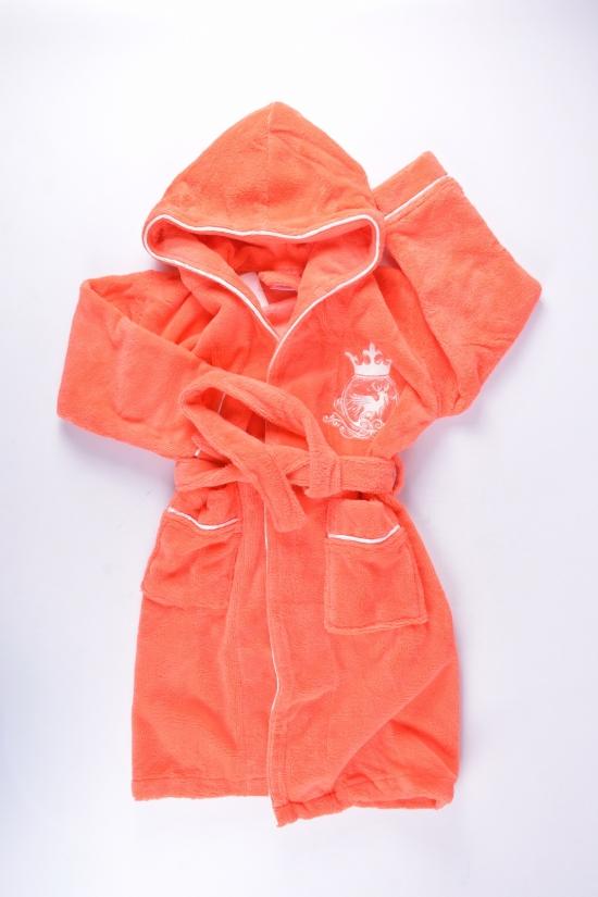 Халат для девочки махровый (цв.персиковый) Рост в наличии : 116, 122, 134, 146, 158 арт.615377