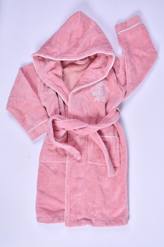Халат для девочки махровый (цв.розовый) Рост в наличии : 116, 122, 134, 146, 158 арт.615379