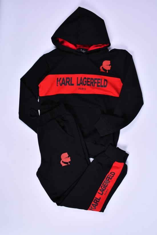 Костюм для девочки (цв.черный/красный) трикотажный KARL LAGERFELD Роста в наличии : 128,140,152,164,170,176 арт.037