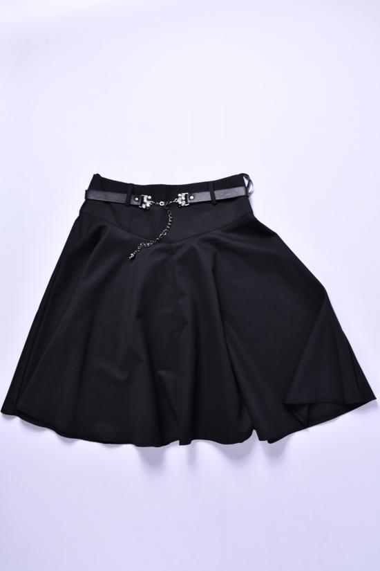 Юбка для девочки с поясом (цв.чёрный) Awino Рост в наличии : 146, 152, 158, 164 арт.54-556