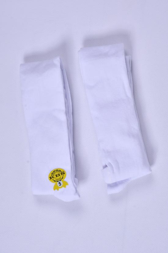 Колготки детские (цв.белый.№5) антибактериальные KBS рост 110-116 арт.4-10001
