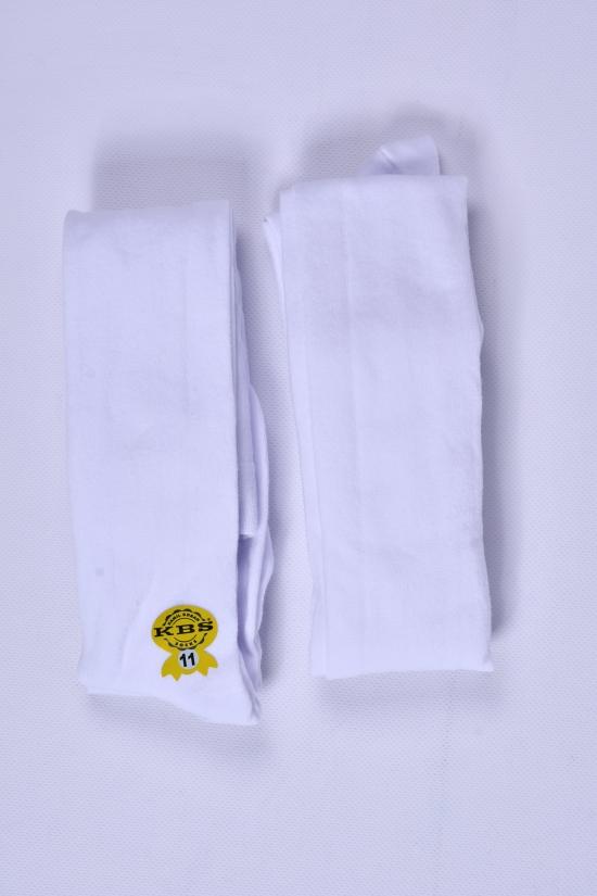 Колготки для девочки (цв.белый №11) антибактериальные KBS рост 146-152 арт.4-70021
