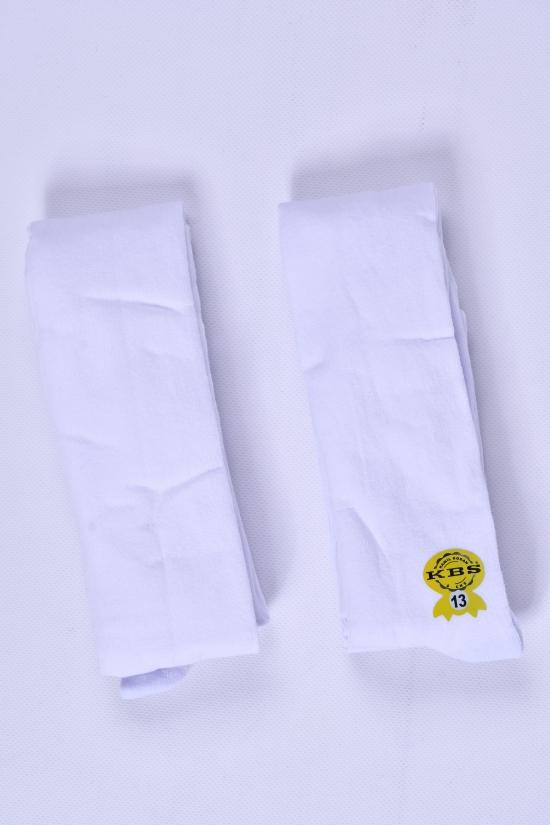Колготки детские (цв.белый.№13) антибактериальные KBS рост 158-164 арт.4-10001