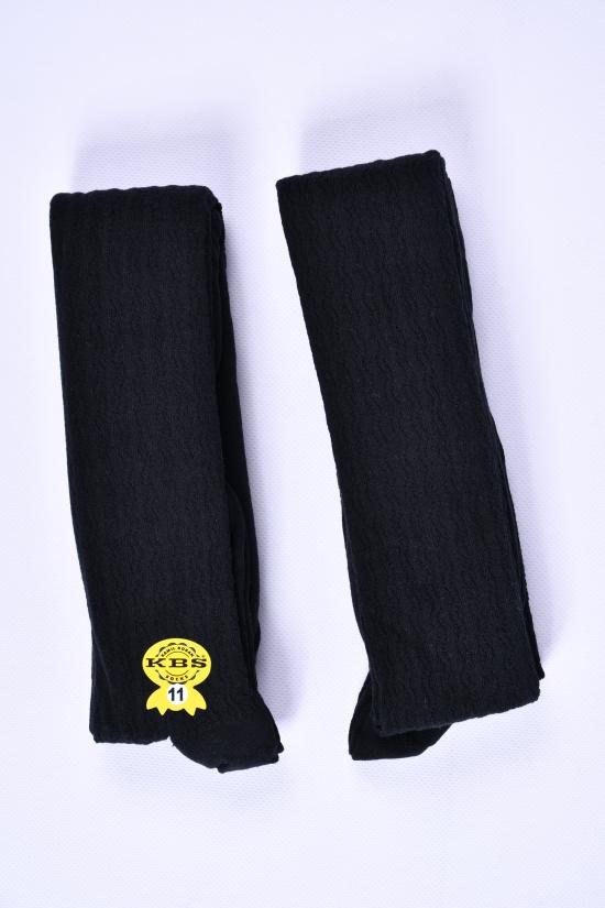 Колготки для девочки (цв.черный №11) антибактериальные KBS рост146-152 арт.4-70021