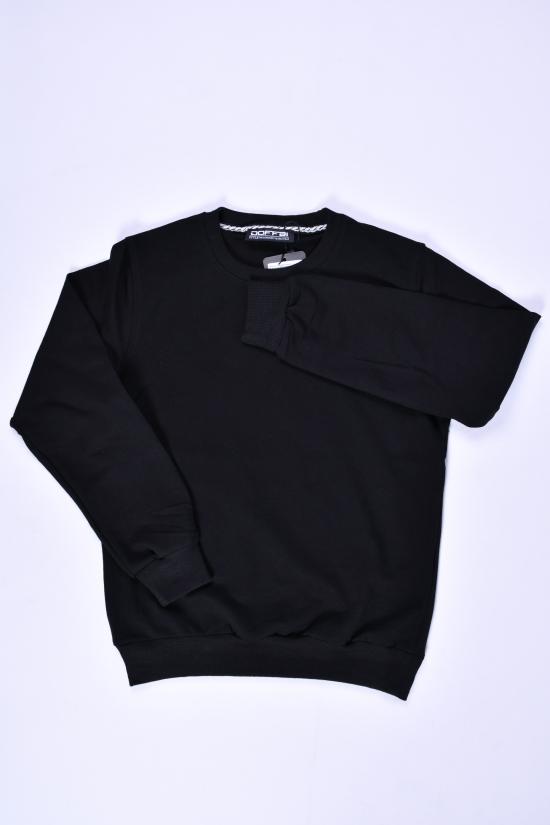 Свитшот для мальчика (цв.черный) трикотажный DOFFBI Роста в наличии : 134,140,146,152 арт.5234-3