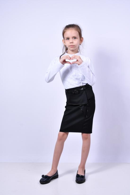 Юбка стрейчевая для девочки (цв.чёрный) AWADORE Рост в наличии : 122, 128, 134 арт.2532