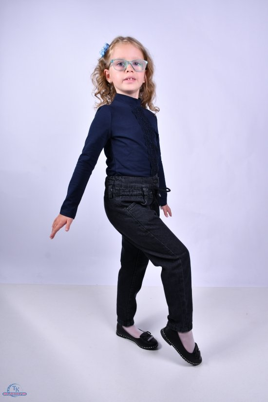 Блузка для девочки (цв.т.синий) стрейчевая TOONTOY Рост в наличии : 116, 152 арт.16656