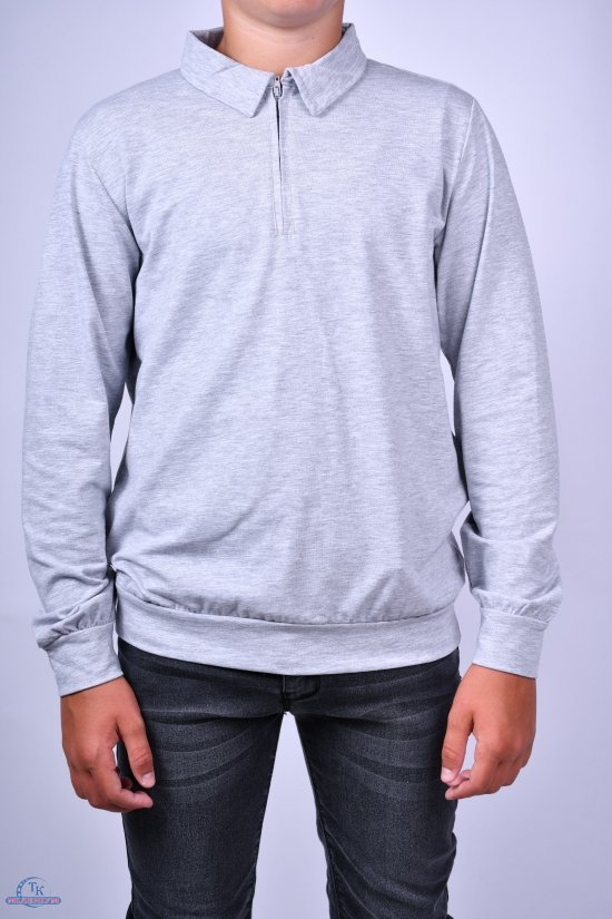 Джемпер для мальчика (цв.св.серый) трикотажный TOONTOY Рост в наличии : 116, 128, 140, 152, 164 арт.12956