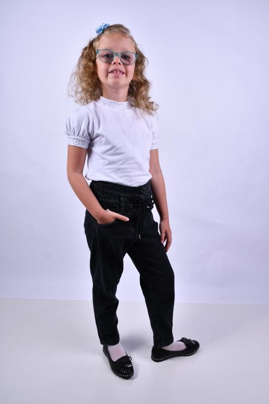 Джинсы для девочки котоновые(цв.т/серый) BEREN Роста в наличии : 116, 122, 128, 134, 140 арт.3422