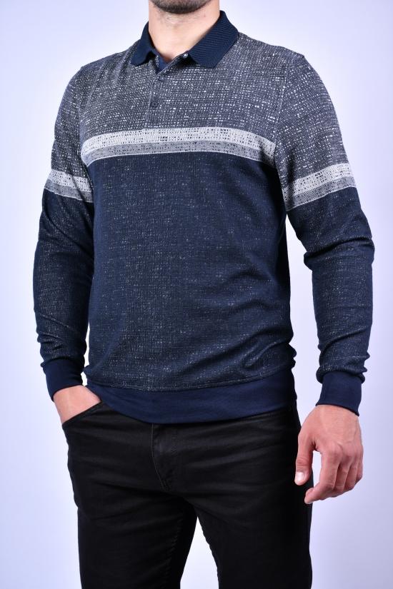 Джемпер мужской тонкой вязки (цв.серый/синий) VIP STENDO Размеры в наличии : 48, 50, 52, 54 арт.S21-1266