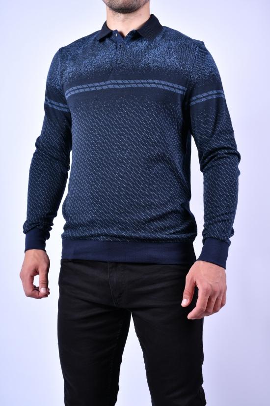 Джемпер мужской тонкой вязки (цв.синий) VIP STENDO Размеры в наличии : 48, 50, 52, 54 арт.S21-1263