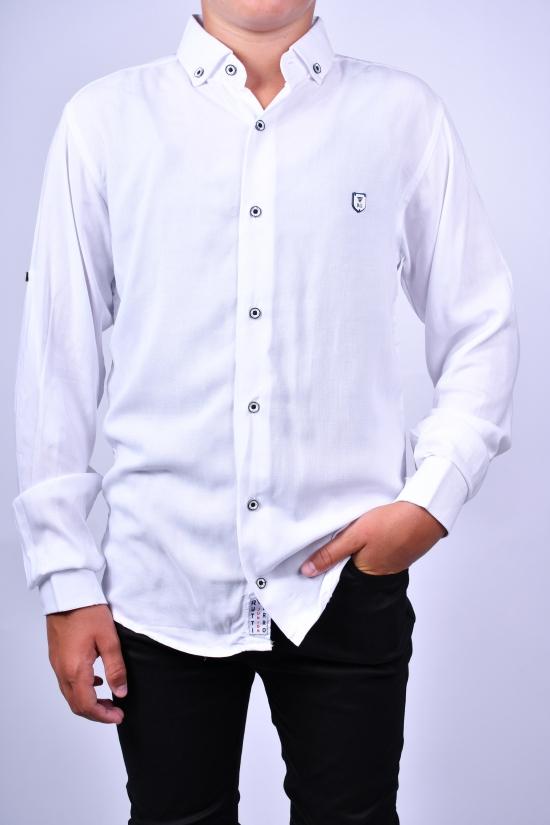 Рубашка для мальчика (цв.белый) RUTTI GARRO Рост в наличии : 158, 164, 170, 176 арт.13-16