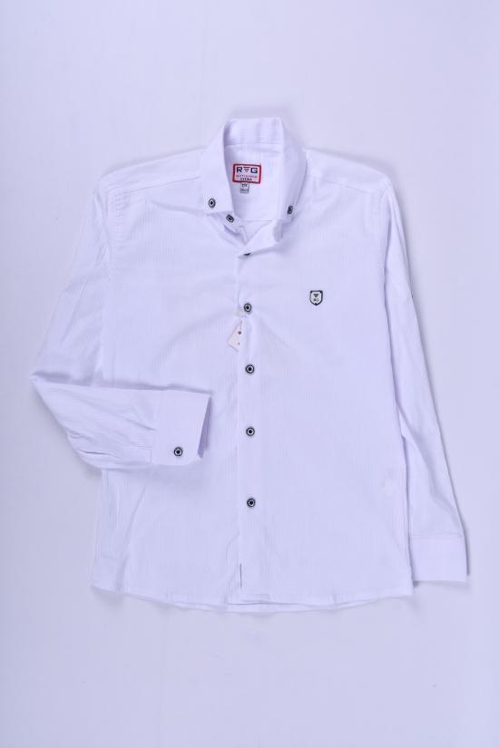 Рубашка для мальчика (цв.белый) стрейчевая RUTTI GARRO Рост в наличии : 146, 158, 164 арт.11-15