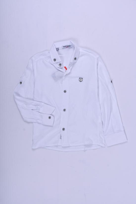 Рубашка для мальчика (цв.белый) RUTTI GARRO Рост в наличии : 110, 116, 122, 128 арт.5-8
