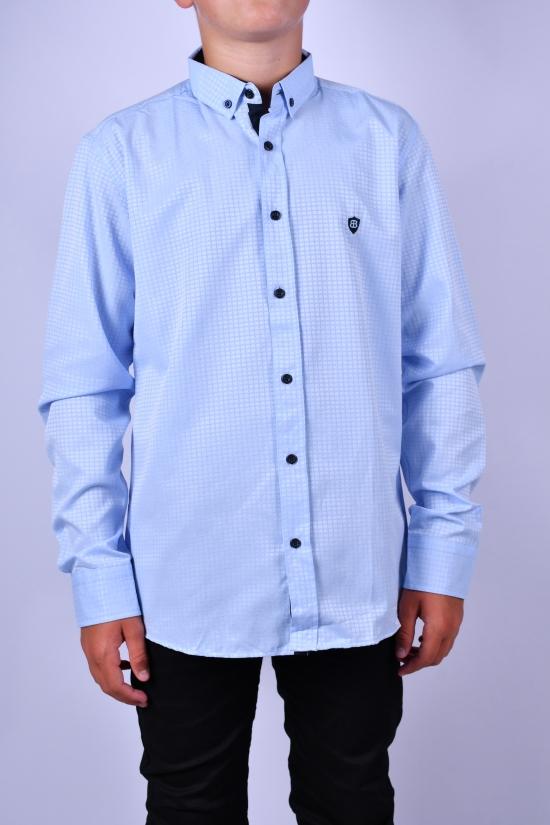 Рубашка для мальчика (цв.голубой) BOLD Рост в наличии : 128, 134, 140, 146, 152, 158 арт.14334