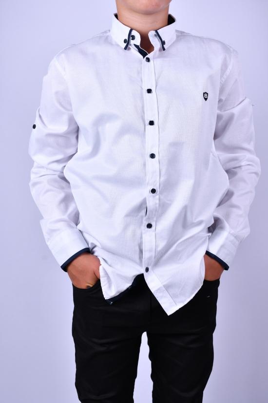 Рубашка для мальчика (цв.белый) BOLD Рост в наличии : 128, 134, 140, 146 арт.14326