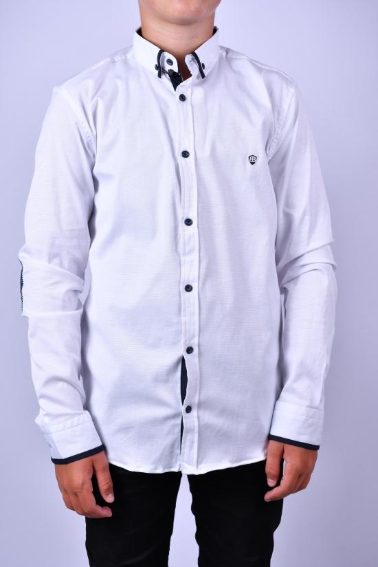 Рубашка для мальчика (цв.белый) BOLD Рост в наличии : 128, 134, 140, 146, 152, 170 арт.14322