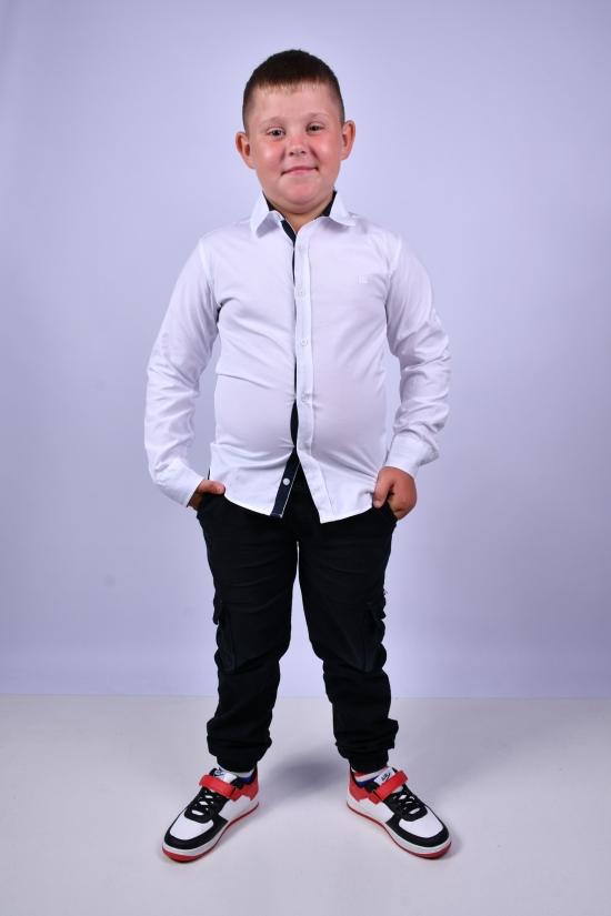 Рубашка для мальчика (цв.белый) BOLD Рост в наличии : 128, 134, 140, 146, 152, 158 арт.14081