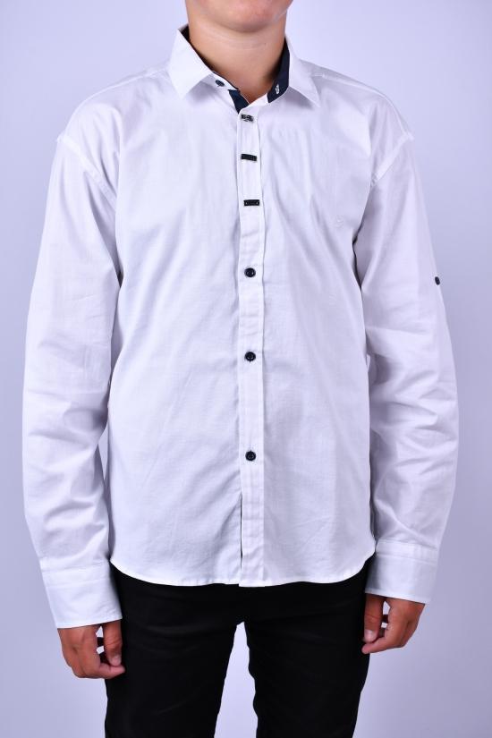 Рубашка для мальчика (цв.белый) BOLD Рост в наличии : 134, 146, 152, 158, 164, 170 арт.14090