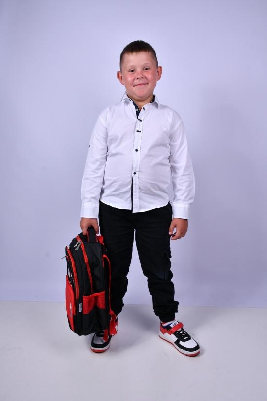 Рубашка для мальчика (цв.белый) BOLD Рост в наличии : 110, 116, 122, 128 арт.14690
