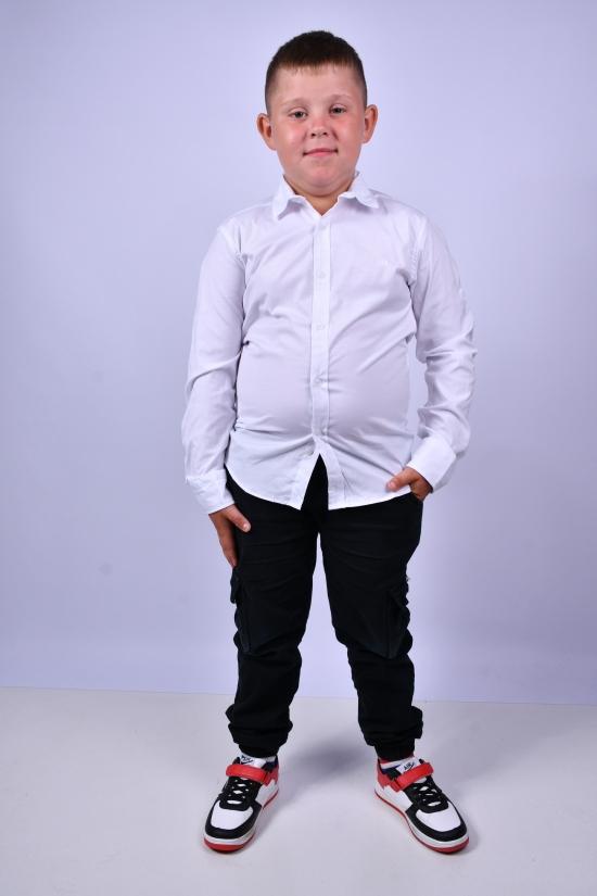 Рубашка для мальчика (цв.белый) BOLD Рост в наличии : 128, 134, 140, 146, 152, 158 арт.14082