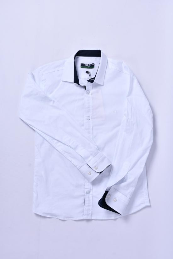 Рубашка для мальчика (цв.белый) BOLD Рост в наличии : 116, 122, 128, 134 арт.14691