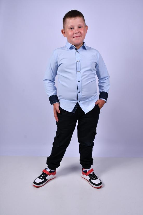 Рубашка для мальчика (цв.голубой) BOLD Рост в наличии : 128, 134, 140, 146, 152 арт.14062
