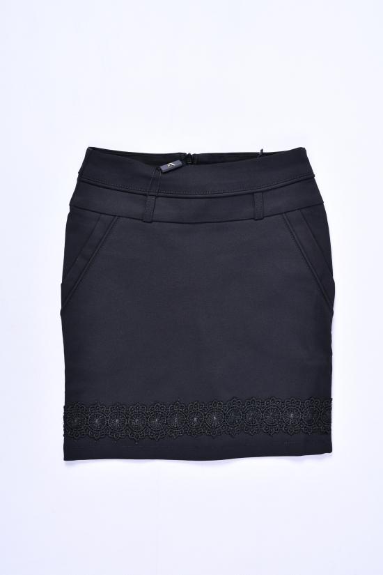 Юбка для девочки стрейчевая (цв.чёрный) Fudeyan Рост в наличии : 116, 122, 128, 134, 140 арт.213