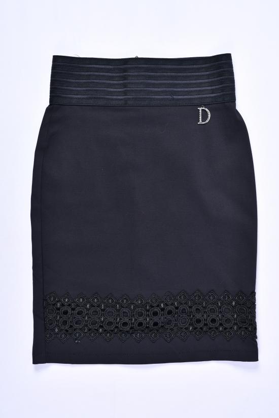 Юбка для девочки стрейчевая (цв.чёрный) Fudeyan Рост в наличии : 134, 140, 146, 152, 158 арт.672