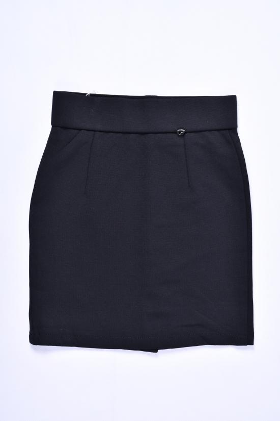 Юбка для девочки стрейчевая (цв.чёрный) Fudeyan Рост в наличии : 116, 122, 128, 134, 140 арт.690