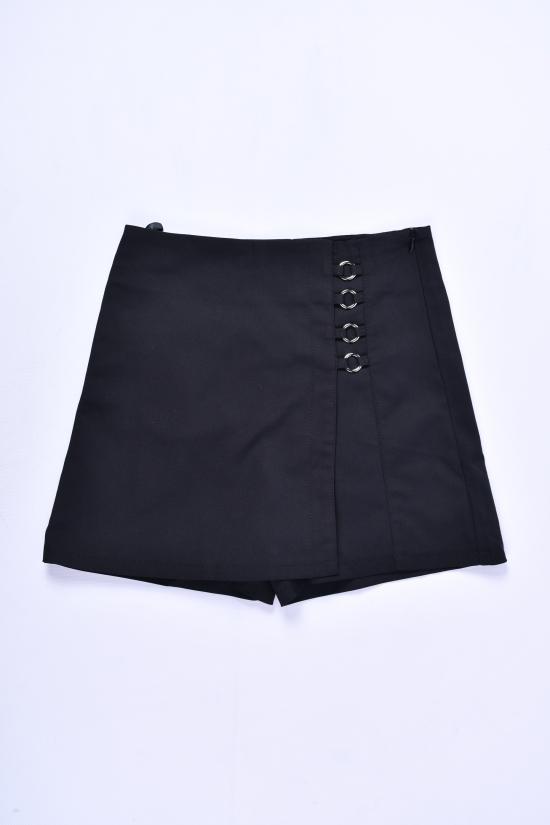 Юбка-шорты для девочки стрейчевые (цв.чёрный) Fudeyan Рост в наличии : 164 арт.696