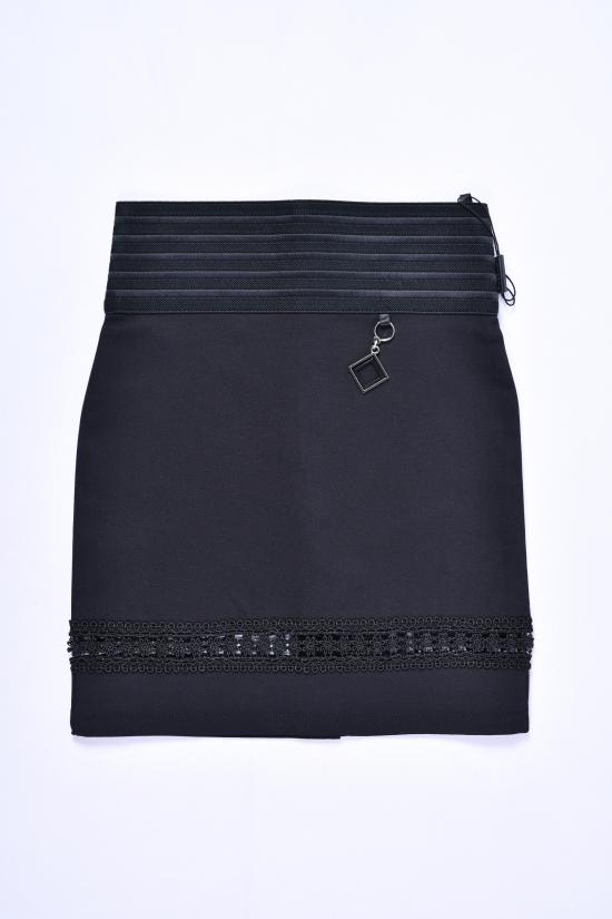 Юбка для девочки стрейчевая (цв.чёрный) Fudeyan Рост в наличии : 134, 140 арт.206
