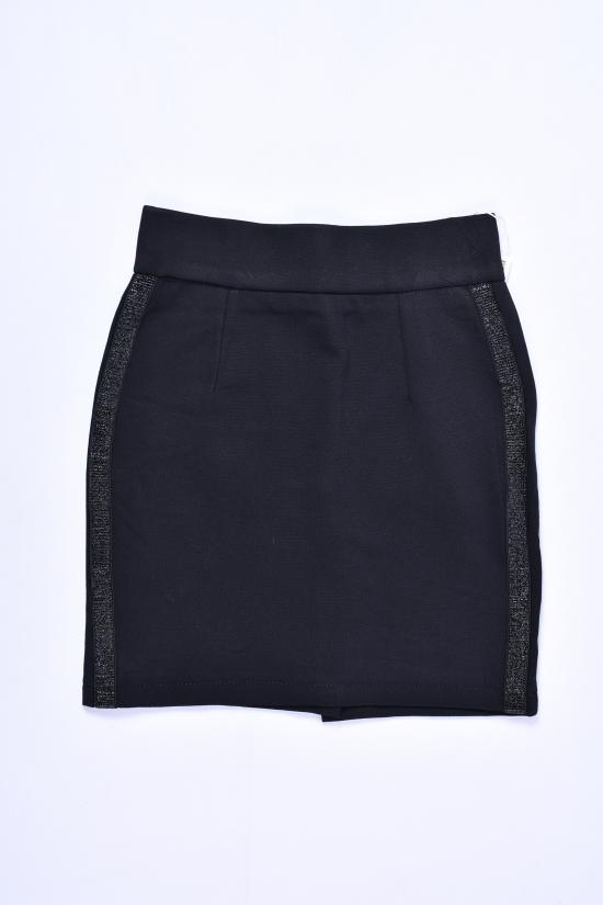 Юбка для девочки стрейчевая (цв.чёрный) Fudeyan Рост в наличии : 116, 122, 128, 134, 140 арт.687