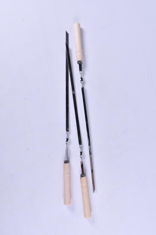 Шампур для шашлыков с деревянной ручкой 600/10/2мм арт.MPH014319