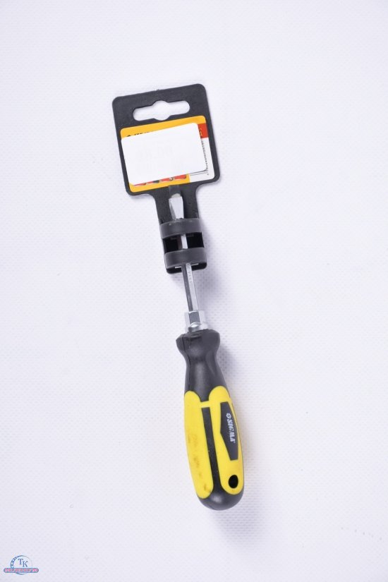 Отвёртка усиленная шлицевая SL5X75 мм под ключ CrV арт.4007061