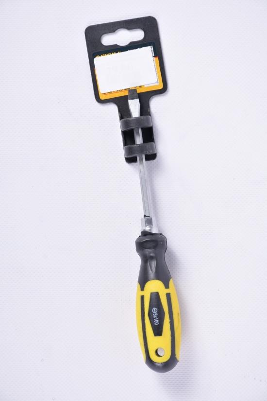 Отвёртка усиленная шлицевая SL5X100 мм под ключ CrV арт.4007071