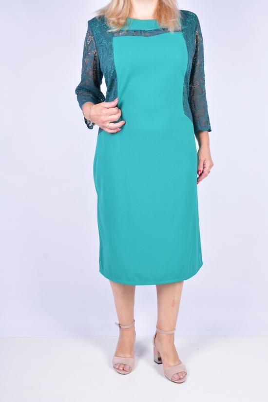 Платье женское стрейчевое (цв.зеленый) Размеры в наличии : 52, 54, 56, 58 арт.4237