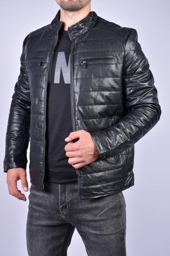 Куртка мужская демисезонная из кожзаменителя MAX&HT Размеры в наличии : 46, 48, 50, 52, 54, 56, 58 арт.1806