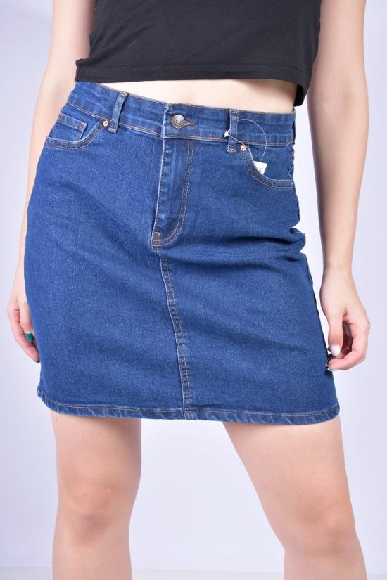 Юбка джинсовая женская стрейчевая (цв.R02) Размеры в наличии : 40, 42, 44, 46 арт.3033