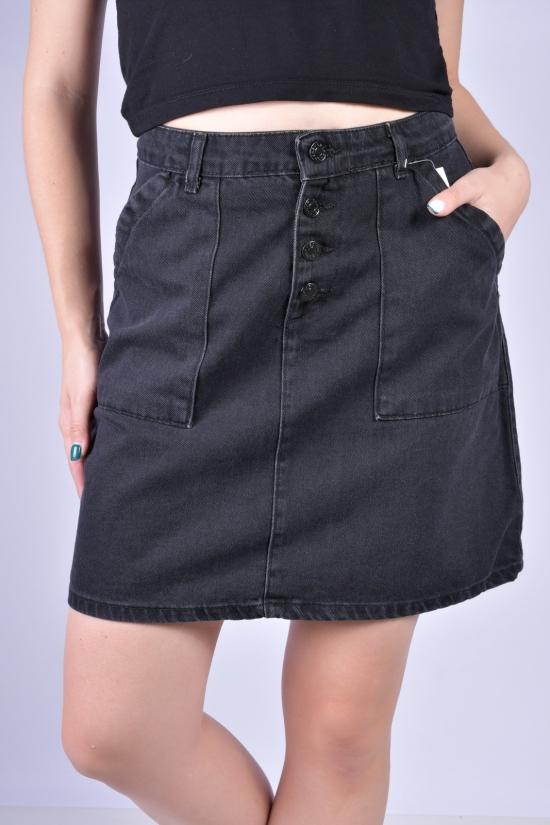 Юбка джинсовая женская (цв.черный) Размеры в наличии : 40, 42, 44, 46 арт.A2266